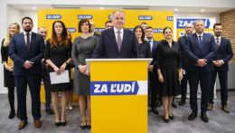 Andrej Kiska pri predstavovaní volebného programu strany Za ľudí v januári 2020.