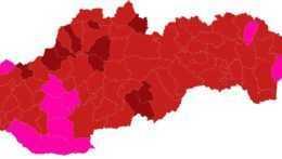 Bordových okresov bude od pondelka menej, pribudnú červené aj ružové (+mapa)