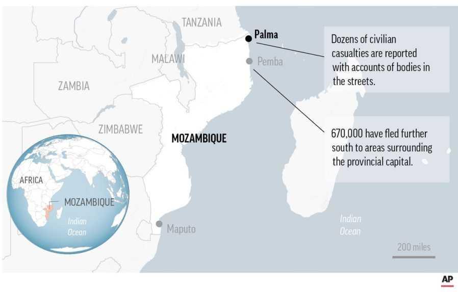 V Mozambiku našli 12 tiel s odťatou hlavou, zrejme išlo o cudzincov
