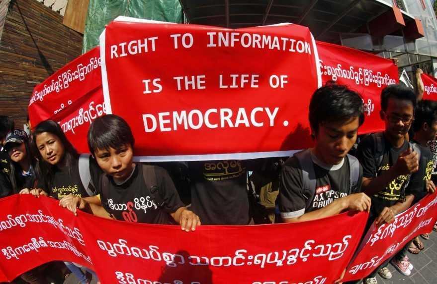 Mjanmarské veľvyslanectvo v Londýne obsadili osoby lojálne vojenskej junte