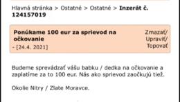 Slováci na internete hľadajú seniorov, ktorých by sprevádzali na očkovanie