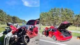 Na diaľnici D2 došlo k vážnej nehode. Cesta bola istý čas úplne neprejazdná