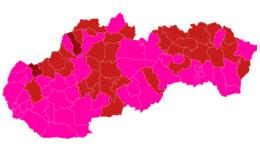 V bordovej fáze budú od pondelka už len dva okresy, ružových bude 44 (+mapa)