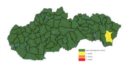 SHMÚ vydal výstrahu pred povodňami na východe Slovenska