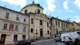 Na snímke evanjelický kostol, kde sa Marína Sládkovičova vydávala a kde Sládkoviča ordinovali za kňaza, v Banskej Štiavnici 18. júla 2020.