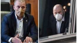 Zľava policajný prezident Peter Kovařík a poslanec Peter Pčolinský (Sme rodina).
