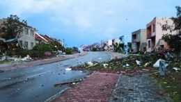 Hodonín zničený búrkou.