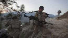 Na snímke americký vojak pôsobiaci v Afganistane.