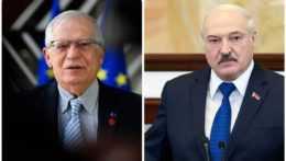 Josep Borrell Alexandr Lukašenko.