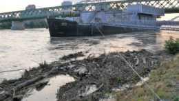 Hladina Dunaja povodne Bratislava