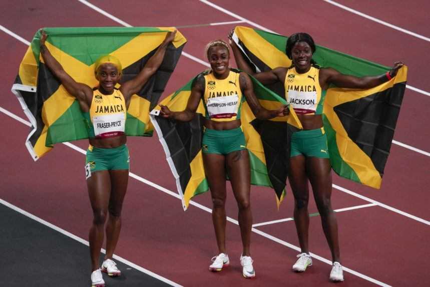 Jamajské šprintérky ovládli stovku, padol olympijský rekord