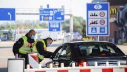 Kontrola na nemeckých hraniciach