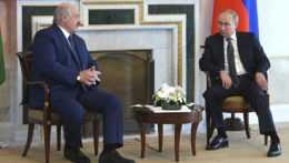 Stretnutie Lukašenka s Putinom.