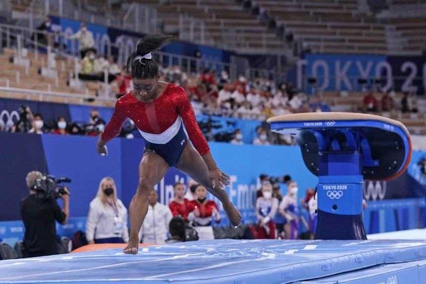 Simone Bilesová preskok