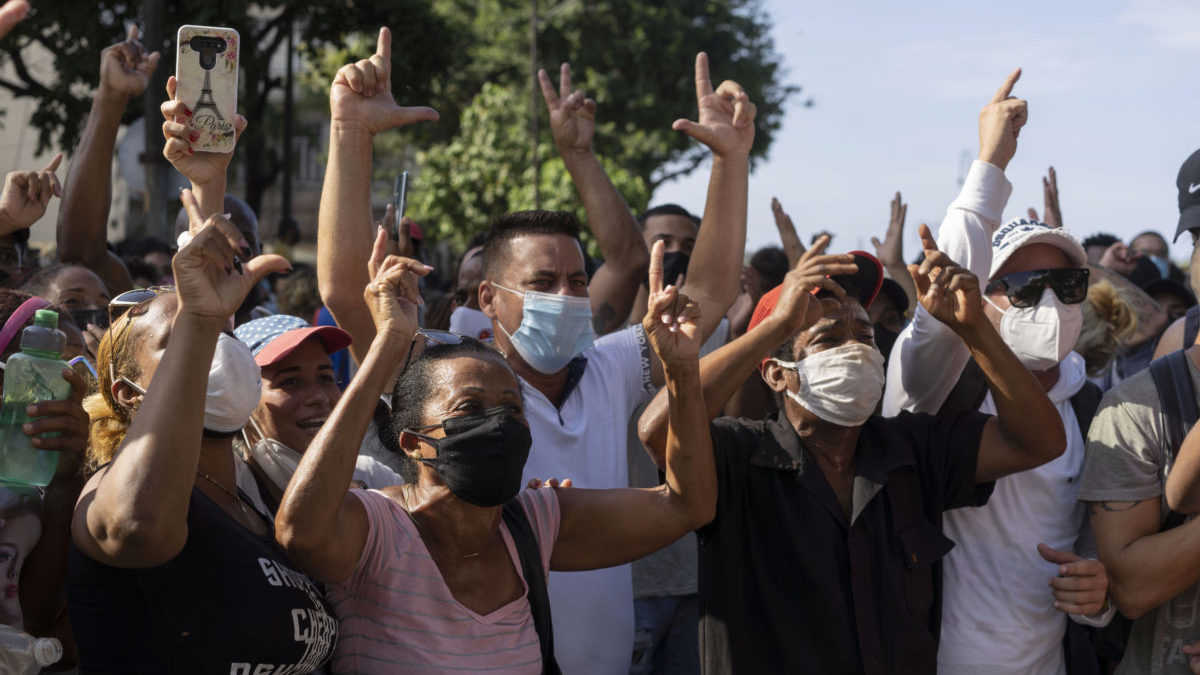Protesty na Kube