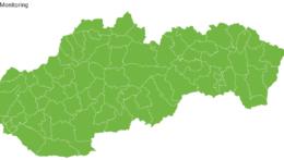 Rozdelenie okresov podľa aktuálnej rizikovosti v rámci covidového automatu