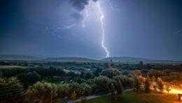 Búrka na Orave.