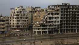 trosky budov v sýrskom Homse