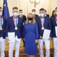 Prezidentka prijala medailistov z olympiády. Poďakovala sa im za vzornú reprezentáciu