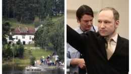 Na combosnímke príbuzní obetí masakry po prvý raz od útoku na nórskom ostrove Utöya a Anders Breivik počas súdneho procesu.