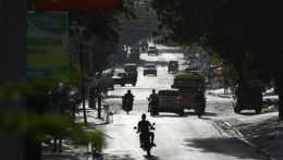 Hlavná cesta v Port-au-Prince.