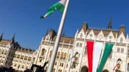 Maďarský parlament.