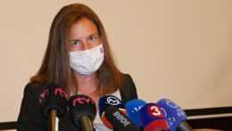 Natália Milanová počas brífingu k natáčaniu zahraničnej produkcie na Slovensku.