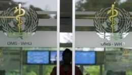Vchod do budovy Svetovej zdravotníckej organizácie.