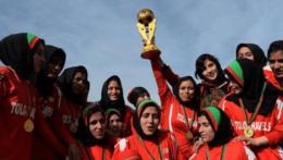Na ilustračnej snímke afganské futbalistky.