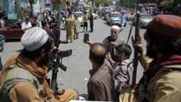 Islamisti v Kábule.