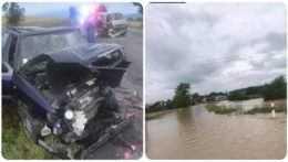 Dopravná nehoda a záplavy