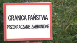 poľský pohraničný nápis.