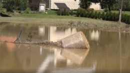 Povodeň v obci.
