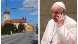 Hlavné námestie v Prešove a pápež František