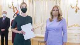 prezidentka Zuzana Čaputová a novovymenovaná sudkyňa Katarína Cangárová