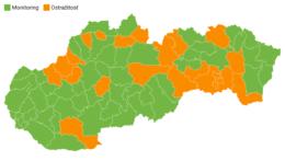 Rozdelenie okresov podľa covidového automatu od 6. septembra