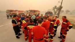 Slovenskí hasiči v Grécku.