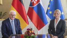 Prezidentka SR Zuzana Čaputová a nemecký prezident Frank-Walter Steinmeier.