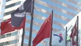 Čínske vlajky.
