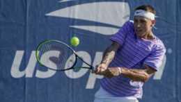 Na snímke slovenský tenista Alex Molčan.