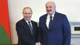 Putin a Lukašenko na stretnutí.