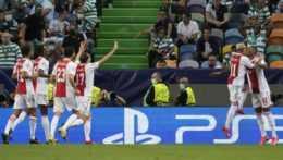 Futbalisti Ajaxu Amsterdam.