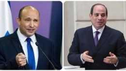 izraelský premiér Naftali Bennett a egyptský prezident Abdal Fattáh Sísí
