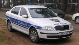 chorvátske policajné auto