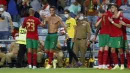 Radosť Cristiana Ronalda po 111. góle v drese Portugalska