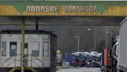 Záber na hraničný priechod Brodské-Břeclav
