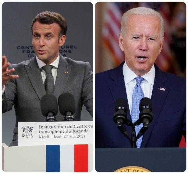 Macron bude hovoriť s Bidenom o diplomatickom spore o ponorky