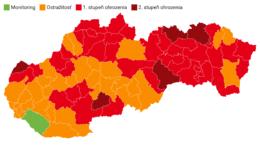 Rozdelenie okresov podľa covidového automatu