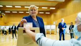 nórska premiérka a líderka Konzervatívnej strany Erna Solbergová