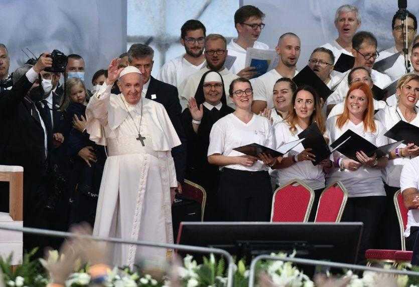 Pápež sa v Košiciach prihovoril mladým: Nepočúvajte tých, ktorí šíria pesimizmus